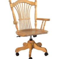 solid wood roller chairs